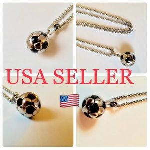 Jewelry - Stainless steel soccer chain with pendant